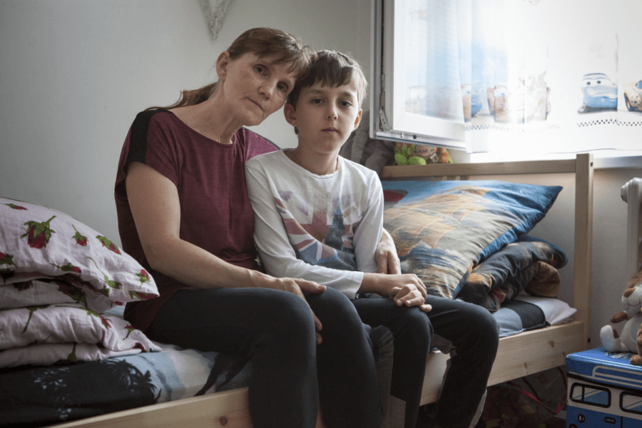 Matka se synem ©_Barbora Kleinhamplová